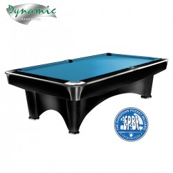 Mesa Billar Dynamic III Negra con Paño color Tournament Blue