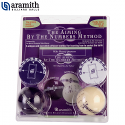 """Juego Entrenamiento Pool Aramith """"Aiming by the numbers"""" - 57,2mm"""