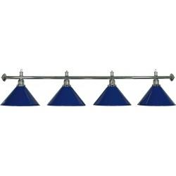 Lámpara 4 Tulipas Latón Azul
